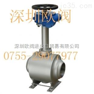 vton-进口全焊接球阀结构图
