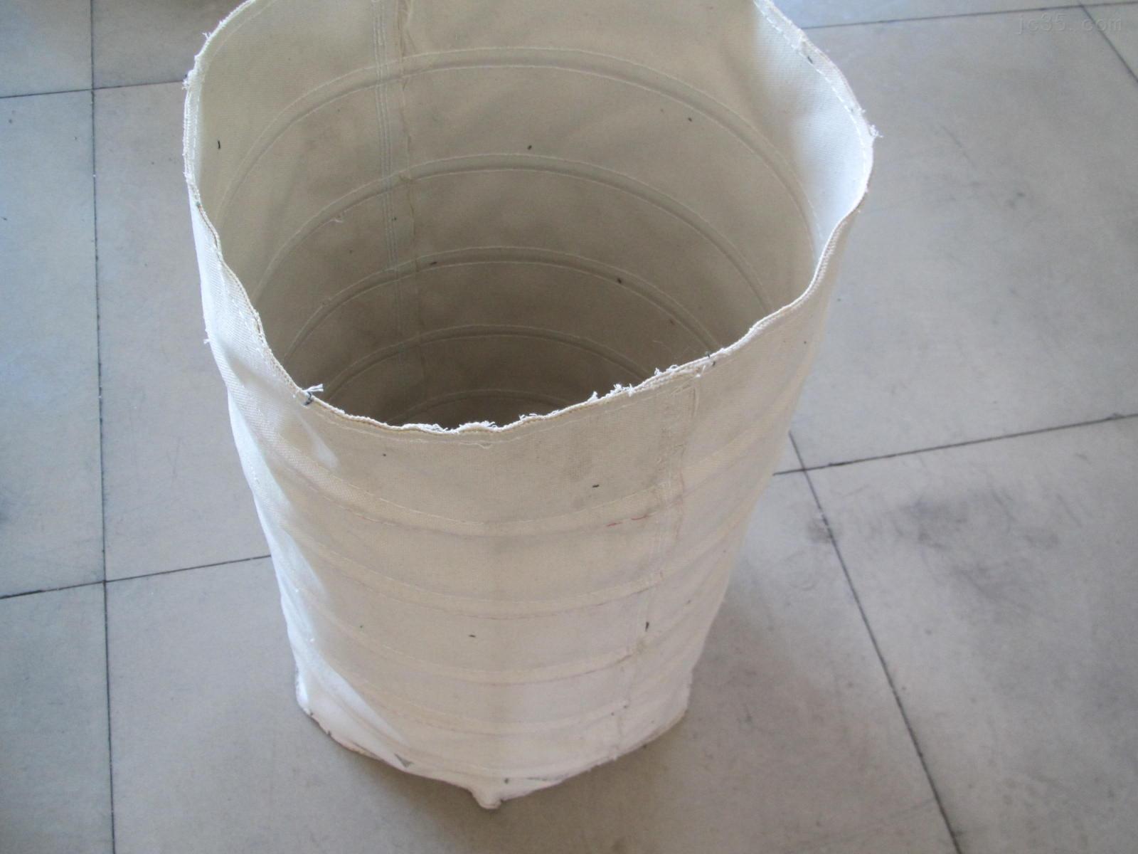 白色帆布水泥输送伸缩布袋