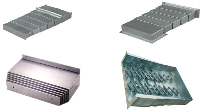 伸缩式防护罩 钢板导轨防护罩产品图