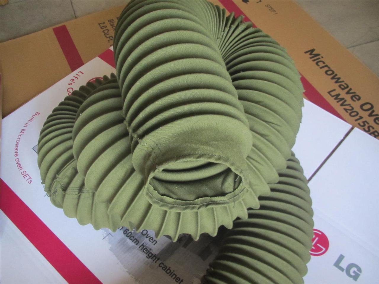 无锡绿色帆布颗粒输送软连接产品图
