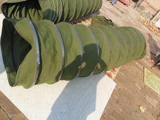 散装机军绿色帆布伸缩袋产品图